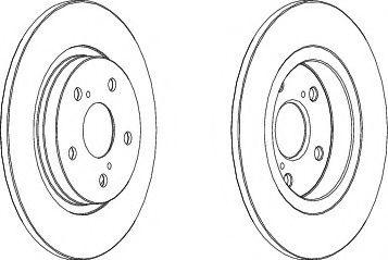 Тормозной диск FERODO DDF1755