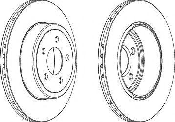 Тормозной диск Ferodo  арт. DDF1766