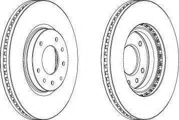 Тормозной диск FERODO DDF1768