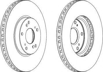 Тормозной диск FERODO DDF1775