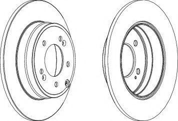 Тормозной диск  арт. DDF1787