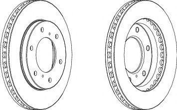 Тормозной диск FERODO DDF1818