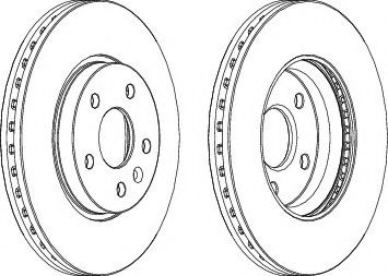 Тормозной диск Ferodo  арт. DDF1869