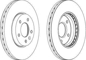 Тормозной диск Ferodo  арт. DDF1870