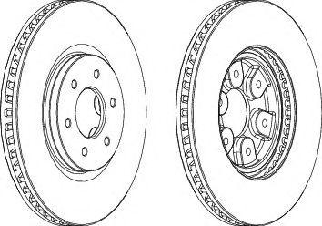 Тормозной диск  арт. DDF1902