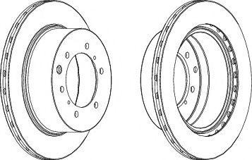Тормозной диск  арт. DDF1954