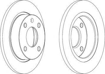 Тормозной диск  арт. DDF208