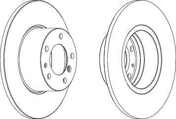 Тормозной диск Ferodo  арт. DDF210
