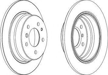 Тормозной диск Ferodo  арт. DDF221