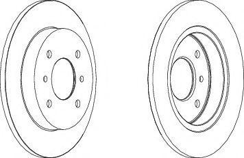 Тормозной диск FERODO DDF267