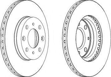 Тормозной диск  арт. DDF377