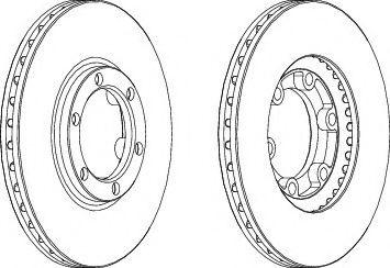 Тормозной диск  арт. DDF385