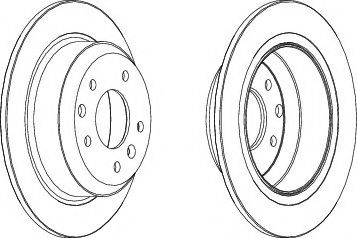 Тормозной диск  арт. DDF441