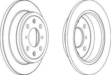 Тормозной диск  арт. DDF468