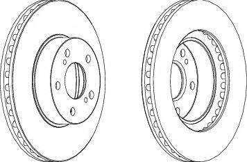 Тормозной диск FERODO DDF485