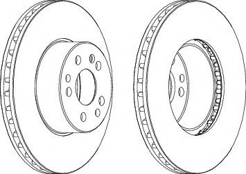 Тормозной диск FERODO DDF629