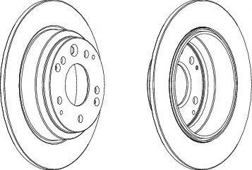 Тормозной диск  арт. DDF672