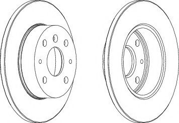 Тормозной диск  арт. DDF755