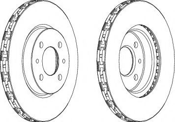 Тормозной диск  арт. DDF762