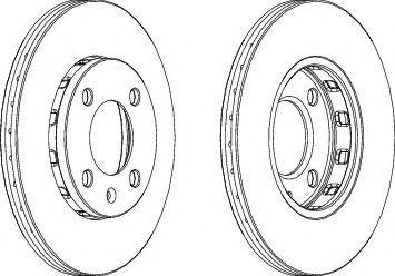 Тормозной диск Ferodo  арт. DDF812