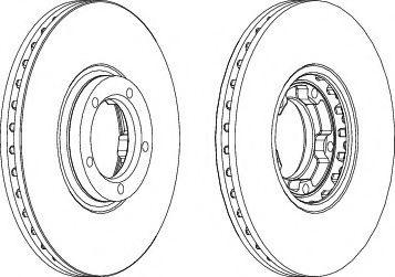 Тормозной диск FERODO DDF849