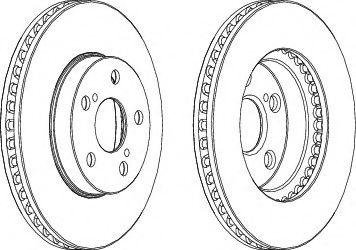 Тормозной диск FERODO DDF992