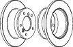 Тормозной диск зад. Sprinter 308-316 96-06 (16mm) FERODO FCR229A