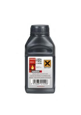 Тормозные жидкости Тормозная жидкость Ferodo DOT4 Synthetic  (0,25мл.)  арт. FBX025
