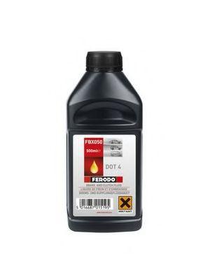 Тормозные жидкости Тормозная жидкость Ferodo DOT4 Synthetic (0,5л.)  арт. FBX050