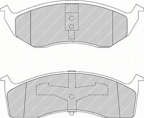 Комплект тормозных колодок, дисковый тормоз  арт. FSL1098