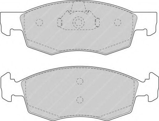 Тормозные колодки перед. Doblo 01-05 (ATE)  (151.3x52.5x18)  арт. FSL1376