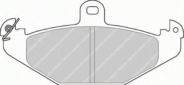 Тормозные колодки Ferodo  арт. FSL878