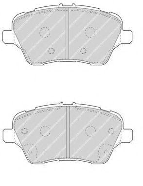 Тормозные колодки Ferodo  арт. FDB4612