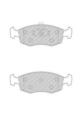 Колодки гальмівні дискові  арт. FDB4735