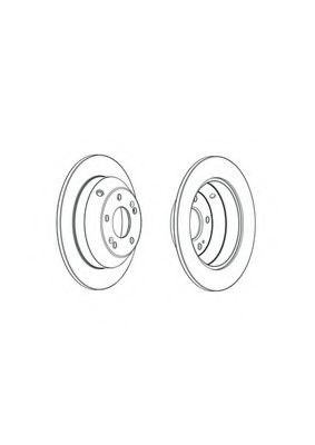 Тормозной диск Ferodo  арт. DDF1873C