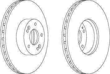 Тормозной диск Ferodo  арт. DDF1631C1
