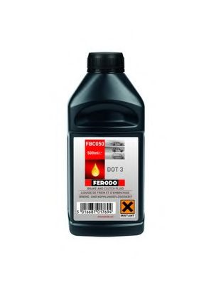 Тормозные жидкости Жидкость тормозная DOT3  арт. FBC050