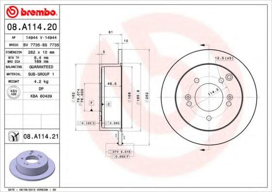 Тормозной диск  арт. 08A11421