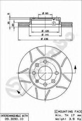 Тормозной диск  арт. 09309075