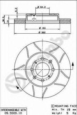 Тормозной диск  арт. 09550975