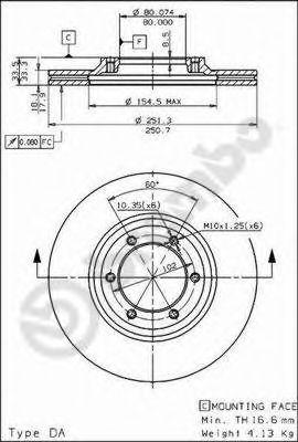 Тормозной диск  арт. 09570510