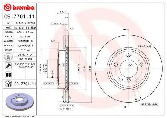 Тормозной диск  арт. 09770111