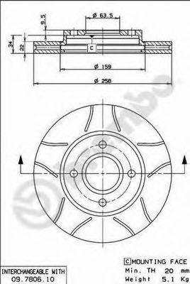 Тормозной диск  арт. 09780675
