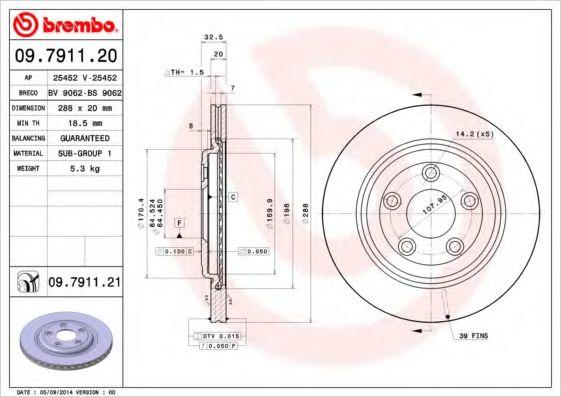 Тормозной диск  арт. 09791121