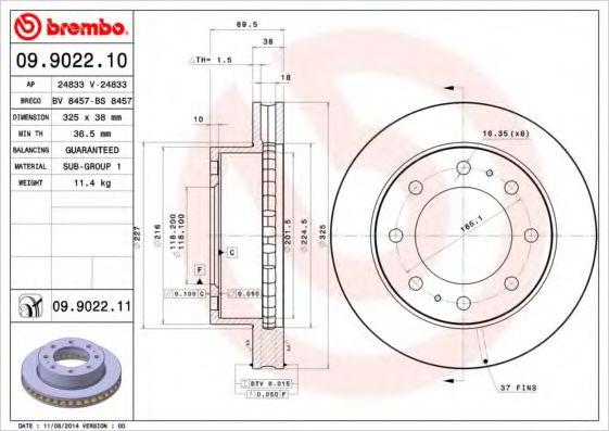 Тормозной диск  арт. 09902211