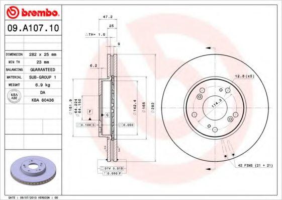 Тормозной диск  арт. 09A10710