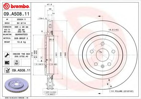 Тормозной диск  арт. 09A50811