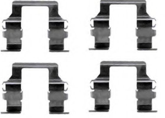 Комплектующие, колодки дискового тормоза  арт. A02201