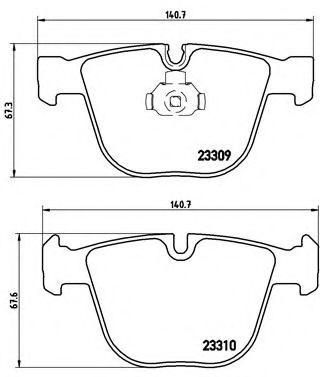 Тормозные колодки дисковые  арт. P05001