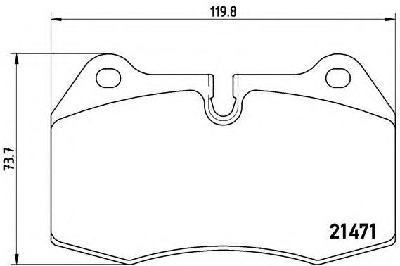 Тормозные колодки  дисковые, к-кт.  арт. P06018